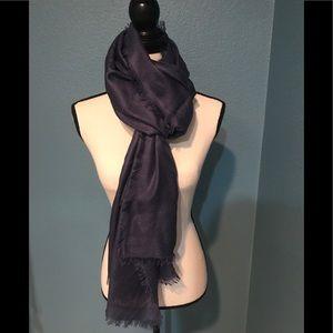 NWT Dark Blue Cashmere & Silk Scarf/Wrap